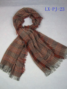 100% Acrylic Checked Fringes Scarf