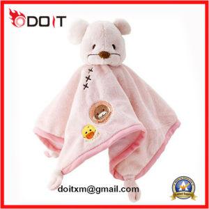 Custom Soft Cartoon Bear Bunny Plush Toy Baby Comforter Blanket