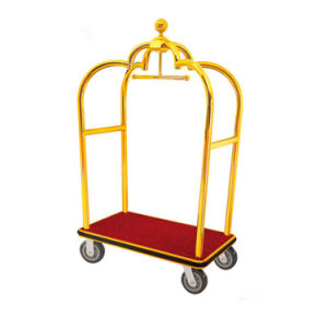 4 Wheels Hotel Trolley Room Stainless Steel Luggage Service Cart pictures & photos