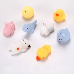 Hot Animal Soft Bunny Toys Mini Squishy Cute Rabbit Silicone Fidget Stress Release