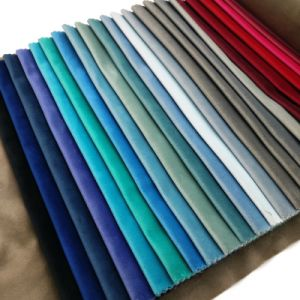 Woven Velure Polyester Dyed Velvet Plain Home Textile Sofa Upholstery Fabric pictures & photos