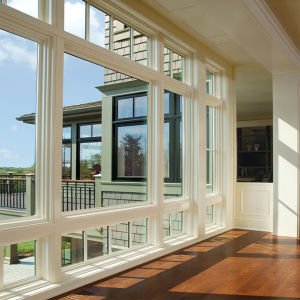 Double Glazing Aluminum Double Hung Window / Single Hung Windows pictures & photos