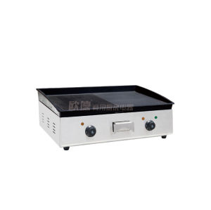 Commercial Kitchen Electric Heating 1/2 Flat Grill