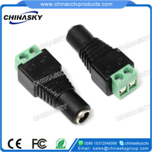 Female CCTV DC Power Connector with Screw Terminal, 2.1*5.5mm (PC101) pictures & photos