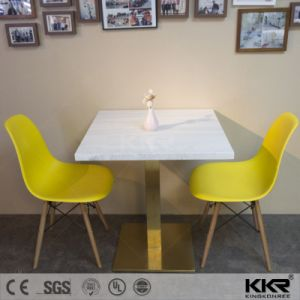 Artificial Marble Restaurant Four Seater Table and Chair pictures & photos