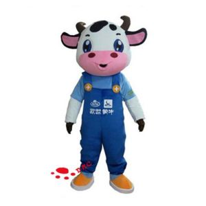 Plush Mascot Clothing Cow Costume