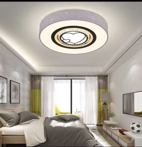 Simple 12 Inch Led Ceiling Light 80w 6400lm Panel Waterproof Home Lamp Cool White Bright Lights For Living Room