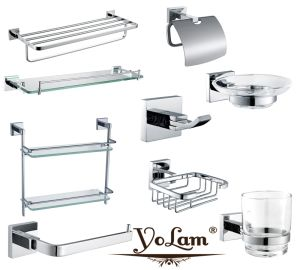 Whole Set Stainless Steel Bathroom Accessories Set for Hotel (36 series)