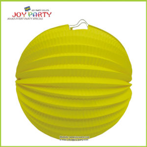 Yellow Watermelon Paper Lantern for Party Decoration