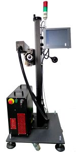 20W 30W Fiber Laser Marking Machine for PP/PVC/PE/HDPE Plastic Pipe
