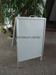 Aluminum a Frame with Handle/a Snap Frame a-Board Sign, Snap Frame a-Frame, Folding a Board a Framefoldable a Frame Pavement Signs pictures & photos