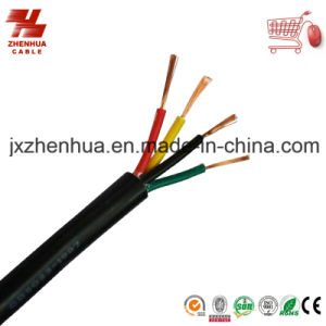 Black PVC 4 Core Power Cable 4X1.5mm2 4X 2.5mm2 4X4mm2 pictures & photos
