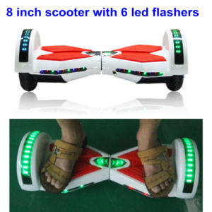 2016 Balance Scooter 8 Inch Bluetooth Two Wheel Skateboard with 6 LED Flashers