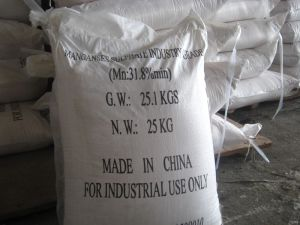 98%Min. Powder for Farming Best Price Industrial and Fertilizer Grade Manganese Sulfate pictures & photos