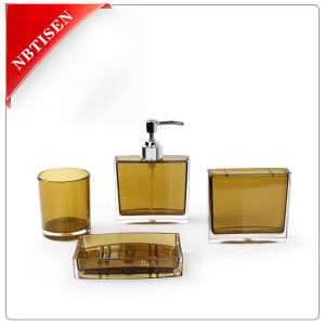 Acrylic/Plastic Crystal Bathroom Accessories Set (TS8001-4)