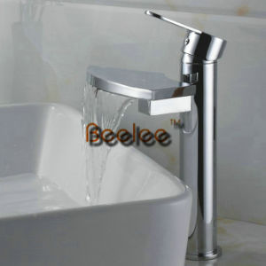 Beautiful Waterfall Chrome Faucet 4 Basin Bathroom Mixer Tap