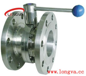 Stainless Steel Two Flanged Butterfly Valve pictures & photos