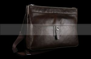 Business Style Leather Bag for 11 Inch Laptop (LAGEBABR108)
