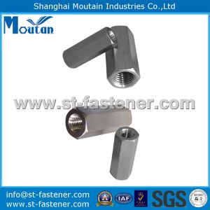 Zinc Plated Hex Long Nuts DIN6334 with Carbon Steel