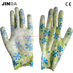 PU Coated Nylon Liner Labor Work Gloves pictures & photos
