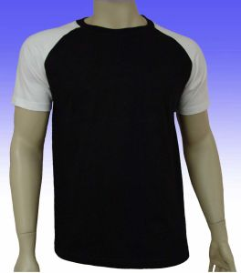 Men′s Black Raglan Sleeve T-Shirt pictures & photos