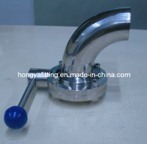 Sanitary Butterfly Valve with Elbow (HYB09)