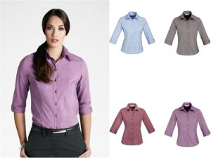 Fashion Lady′s Office Uniform with 3/4 Sleeve Shirt (XY -009) pictures & photos