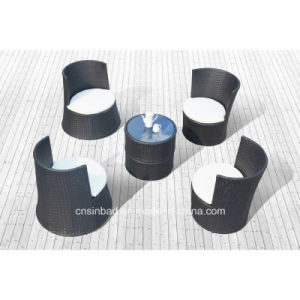 Outdoor Rattan Sofa for Hotel / Home / Bar with 4 Seater (1011)