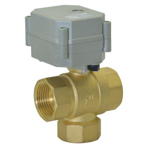 "3way 3/4"" Brass Electric Control Valve (T25-B3-C) pictures & photos"