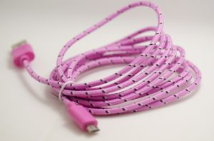 Colorful Weave Micro USB 5 Pin Data Charger Cable for Samsung HTC pictures & photos
