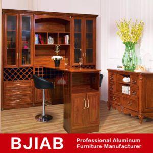 Golden Oak Antique Metal Home Furniture Aluminum Wine Cabinet