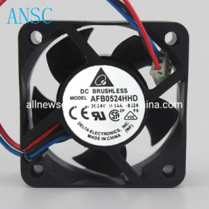 5020 0.14A Double 24V DC Brushless Cooling Fan Afb0524hhd 5cm Ball Axial Fan