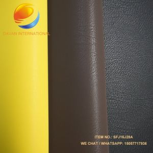 PU Leather Silky Flocking Leather for Shoes Bags pictures & photos