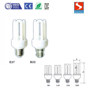 Straight U Shape 3u 9W CFL Principle Energy Saving Lamp pictures & photos