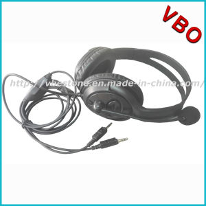 Call Center 3.5mm Stereo Computer Headset with Volume Control pictures & photos