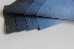 Cotton Spandex Cross Hatch Slub Chambray Denim