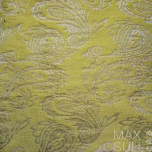 Jacquard Fabric for Dresses in Yellow