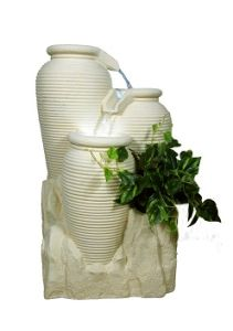 Sandstone Sculpture Water Spray Fountain for Square Garden pictures & photos