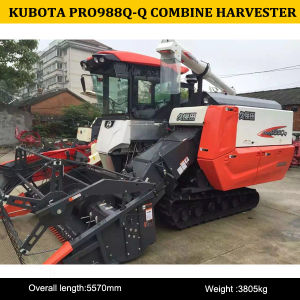 Best Quality of 4lz-4j PRO988q-Q Combine Harvester for Rice Wheat, 988q-Q Combine Harvester pictures & photos