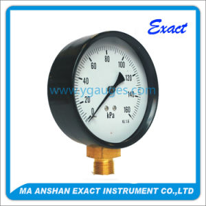 Black Steel Bourdon Tube Type Pressure Gauge