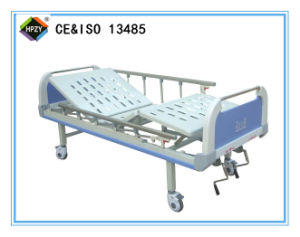 a-99 Movable Double-Function Manual Hospital Bed with ABS Bed Head