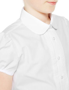 Girls′ Easy to Iron Pin-Tuck School Blouses pictures & photos