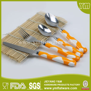 PP Handle Plastic Silver Cutlery