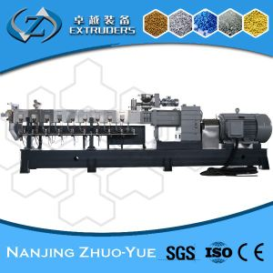 Ce and ISO9001 Zhuoyue Plastic Granules Making Twin Screw Extruder