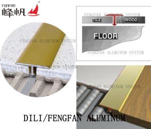 Alumaiam Tile Trim to Apart Between Two Flooring pictures & photos
