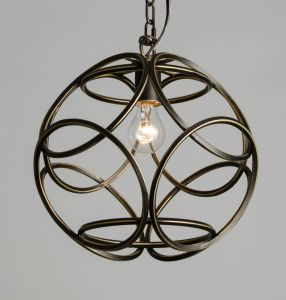 2017 New Arrival Wrought Iron Orb Ball Shaped Mini Pendant Light