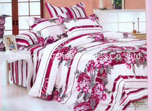 Colorful Flower Pattern Bamboo Microfiber Bed Sheet Set Bedding Set for Home pictures & photos