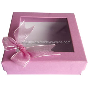 Printed Paper Box with Window for Gift Packing