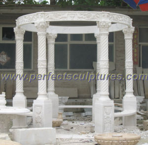 Antique Garden Gazebo Tent with Stone Marble Granite Sandstone (GR055) pictures & photos