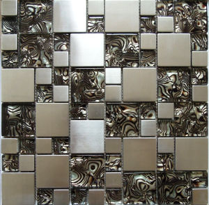 Mosaic Tile/Glass Mosaic/Stainless Steel Metal Mosaic (SM212) pictures & photos